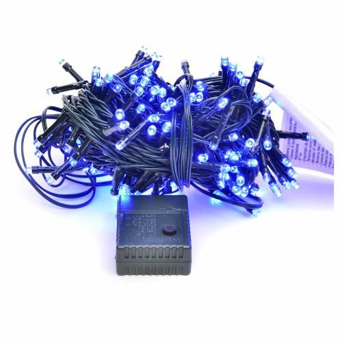Luces de Navidad, 180 LED azules, interior exterior s1