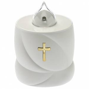 Votive candles: Lumada electric candle, static light with cross