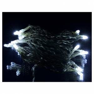 Luminaire Noël guirlande intérieur 35 leds blanc glacier s2