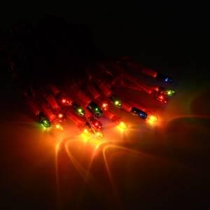 Luces de Navidad: Luz de navidad cable rojo 20 bombillas multicolor