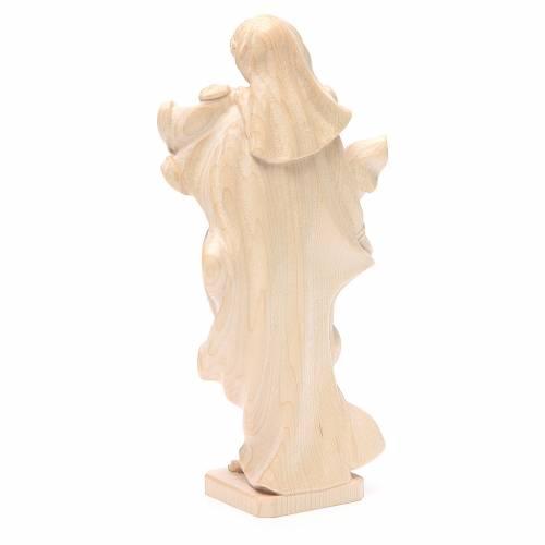 Madonna bimbo stile barocco legno Valgardena naturale cerato s3