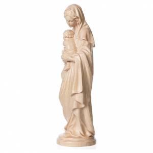 Madonna con bimbo legno Valgardena naturale cerato s3