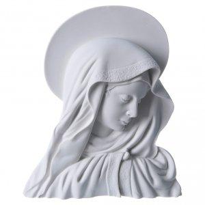 Articoli funerari: Madonna del dito con aureola 28 cm rilievo marmo
