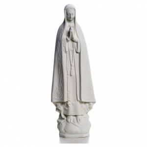 Statue in polvere di marmo di Carrara: Madonna di Fatima 25 cm marmo bianco