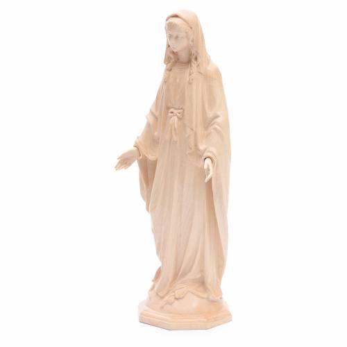 Madonna Immacolata legno Valgardena naturale cerato s2