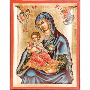 Íconos Pintados Grecia: Madre de Dios