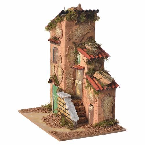 Maison décor crèche 25x21x16 cm s3
