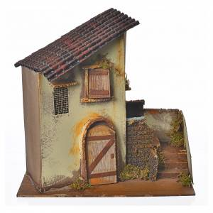 Maison jaune avec 3 marches 28x15x27 cm s1