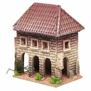 Maisonnette crèche rustique 23x20x13 cm s2