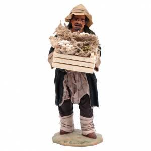 Neapolitan Nativity Scene: Man holding a box for Neapolitan nativity scene