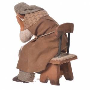 Man thinking, Neapolitan Nativity 12cm s2