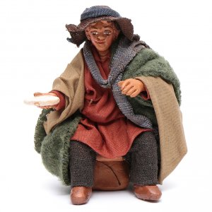 Neapolitan Nativity Scene: Man with dish for table 10cm, Neapolitan Nativity figurine