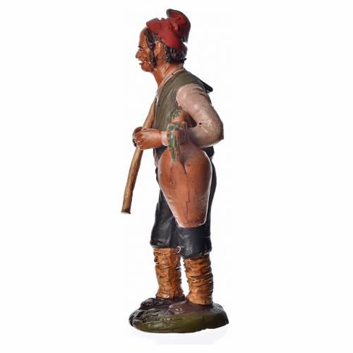 Man with hoe and amphora, 18cm terracotta, Deruta s3