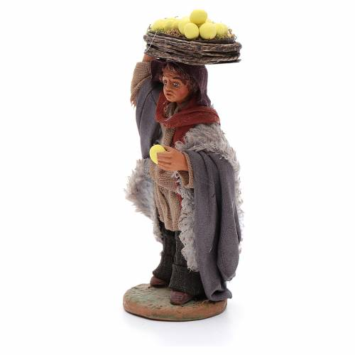 Man with lemon baskets, Neapolitan nativity figurine 10cm s2