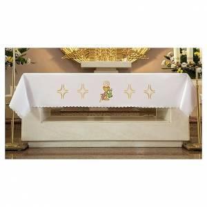 Manteles de altar: Mantel de altar 165x300 cm uva, pan y vino