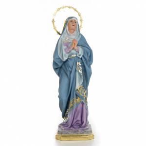 Statue in legno dipinto: Maria Addolorata 40 cm dec. superiore