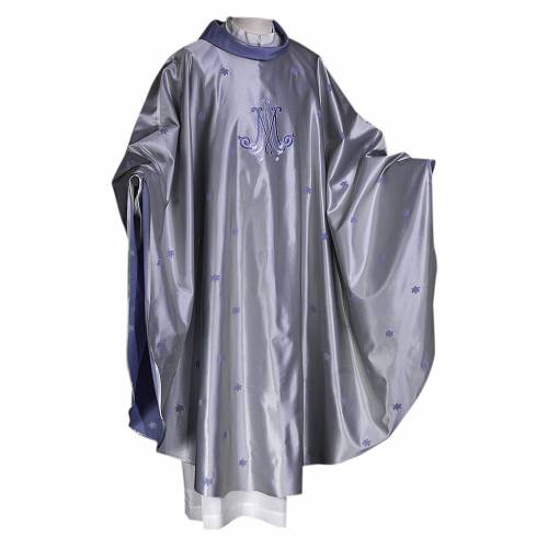 Marian chasuble wool and silk s1