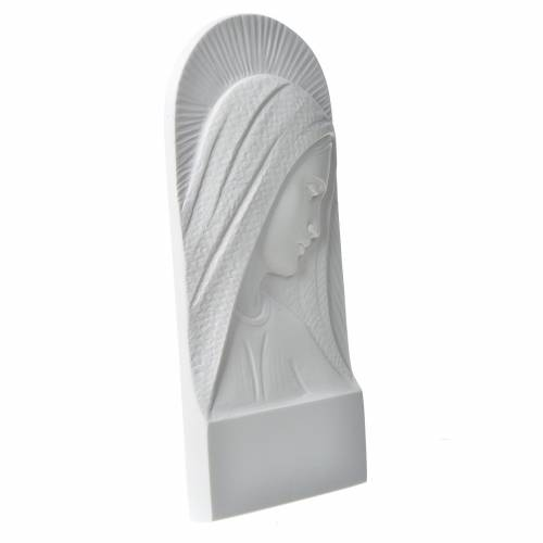 Mary's face in reconstituted carrara marble, 11 cm s2