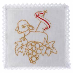 Altar linens: Mass linen set 100% linen Lamb of God