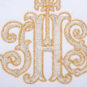Mass linen set 4 pcs. IHS in gold thread s3
