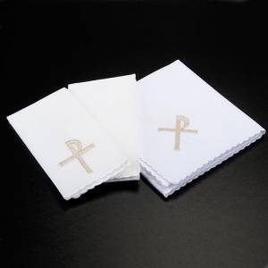 Altar linens: Mass linen set 4 pcs. with key of life