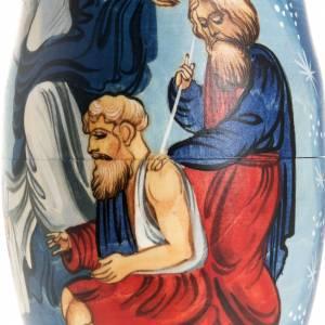 Matryoshka natività con angelo e 4 scene s4
