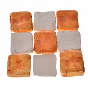 Mattonelle terracotta smaltate 60 pz color mattone per presepe s1