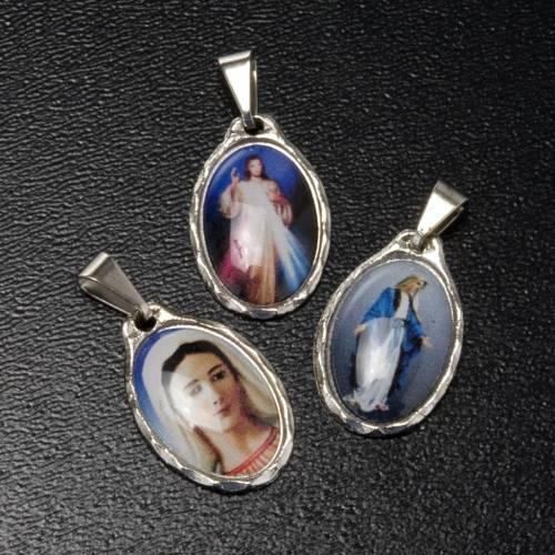 Medaglia argentata Misericordia - Madonna Pace - Grazie s2