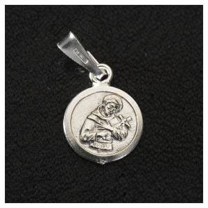 Medaglia argento 925 San Francesco 9 mm s2