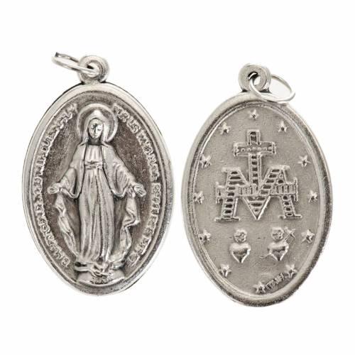 Medaglia Miracolosa ovale metallo argentato h 30 mm s1
