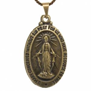 Medaglia miracolosa pendente color bronzo s1