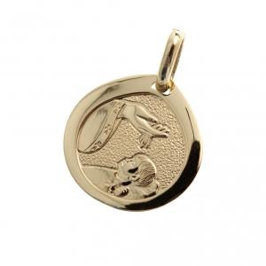 Pendenti, croci, spille, catenelle: Medaglietta oro 750 Battesimo - gr. 1,70