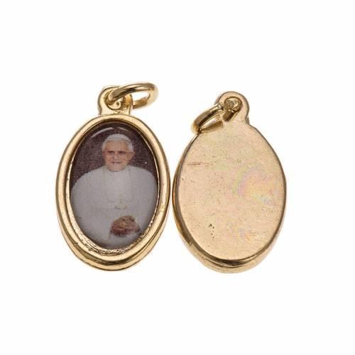 Médaille Benoit XVI dorée 1,5x1 cm s1