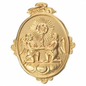 Médaille confrérie Très-Saint-Sacrement métal 9x7 cm s1