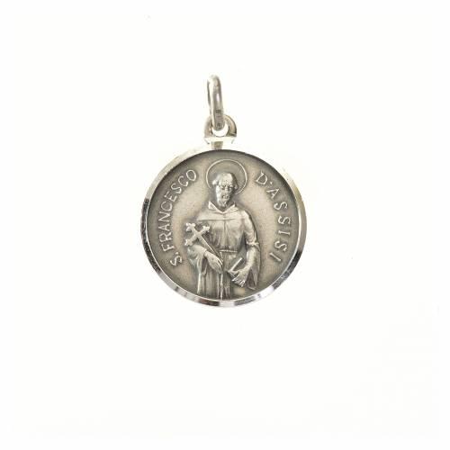 Médaille St François 16 mm en argent 925 s1