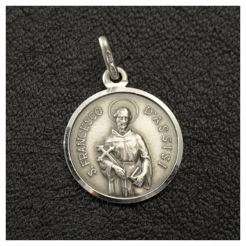 Médaille St François 16 mm en argent 925 s2