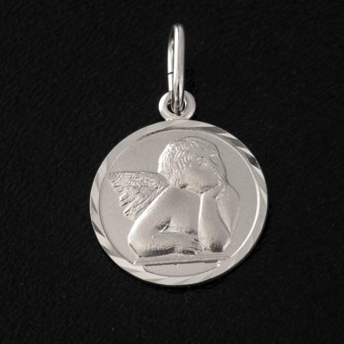 Medal with Angel, sterling silver, 1,5cm s2