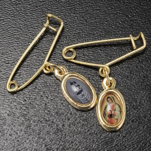 Medal with pin, Our Lady of Guadalupe-Loreto s2