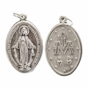 Medallas: Medalla Milagrosa oval metal plateado 30mm