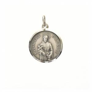 Colgantes, cruces y broches: Medalla plara 925 de 16 mm San Francisco