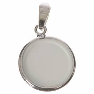 Medalla redonda de plata, 18mm Ángel guardián s2