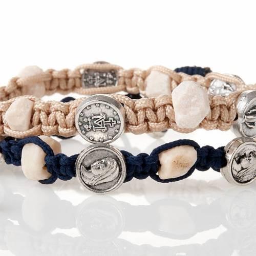 Medjugorje bracelet, cord, medal, stone s2