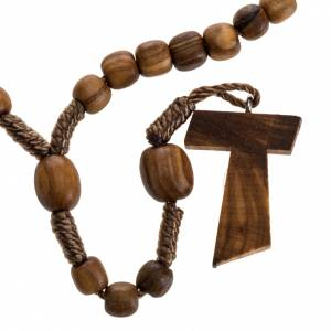 Rosaries and rosary holders: Medjugorje mini rosary in olive wood with Tau cross