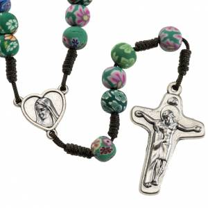 Rosaries and rosary holders: Medjugorje rosary beads in fimo with decoration