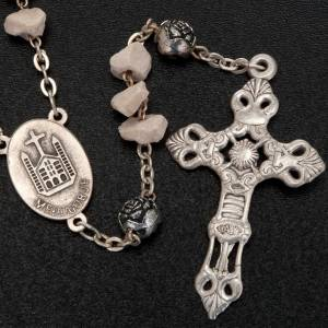 Medjugorje stone rosary with rose-shaped beads s5