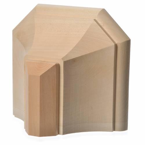 Mensola in legno naturale 19x21.5 cm s4