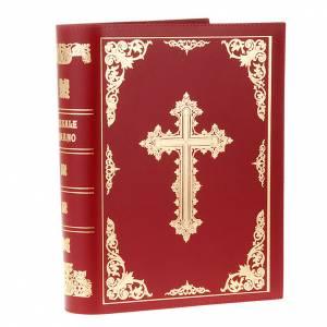 Deckel für Messbücher: Messbucheinband echte Leder vergoldete Kreuz