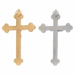 Metal crucifix, silver or gold, Holy Spirit with grapes chalice s2