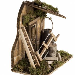 Milieu crèche Noel avec outils de travail s2