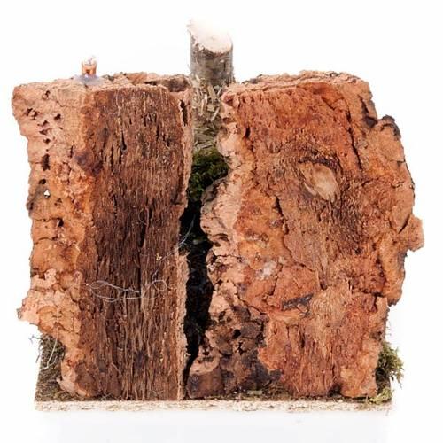 Milieu crèche Noël fenil avec râteau et outils s2